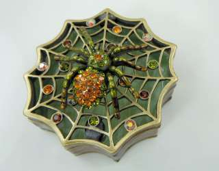 Kirks Folly Itsy Bitsy Spider & Web Box GF Halloween