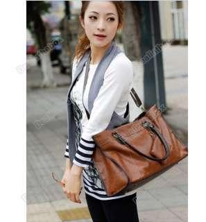 Newest PU Leather Womens Tote Shoulder Bags Handbag Fashion Satchel 4