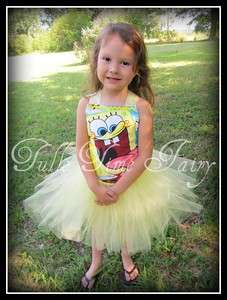 SpongeBob SquarePants TuTu Birthday party dress 12m 5