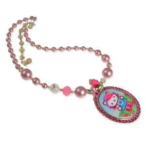 Tarina Tarantino Hello Kitty Pink Head Rose Pearl Necklace (FINAL SALE