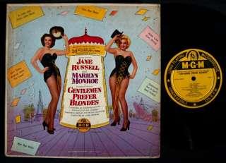 GENTLEMEN PREFER BLONDES Marilyn Monroe MGM 10 LP NM
