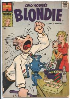 BLONDIE COMICS MONTHLY #101 VG, Dagwood is in Trouble Again  by Chic