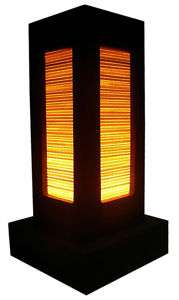 NEW DESIGN ASIAN ORIENTAL 9 INCH TALL BAMBOO TABLE LAMP