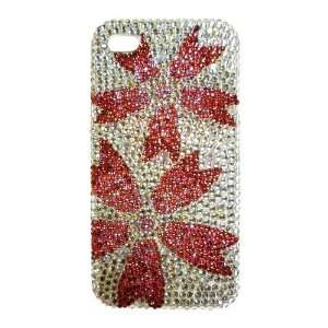 Swarovski Crystal Clear White & Pink Cherry Blossoms Flowers Pattern