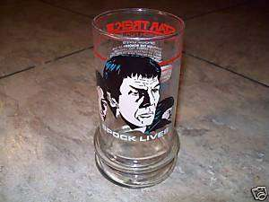 1984 TACO BELL STAR TREK (SPOCK LIVES) GLASS(NICE)**