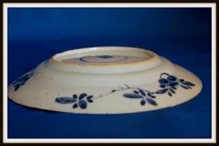 FANTASTIC ANTIQUE CHINESE YONGZHENG PORCELAIN BLUE & WHITE PLATE