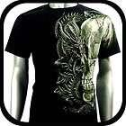 RC Survivor T Shirt Biker Skull Tattoo Rock WB5 Sz M Rider Retro Heavy