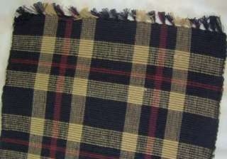 Country Red Black Tan Plaid Cambridge Table Runner 13x36