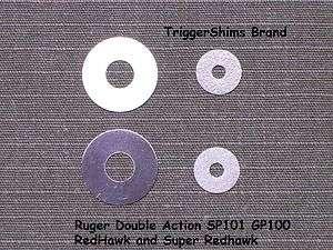 Ruger SP101 GP100 SUPER REDHAWK Revolver TRIGGER & HAMMER SHIM KIT 8