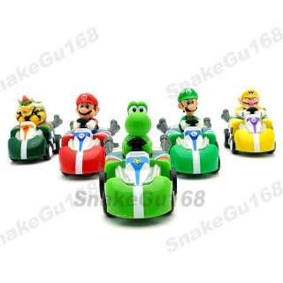 Lot 5 Super Mario 2 Pull Back Figure Kart Car+MS557