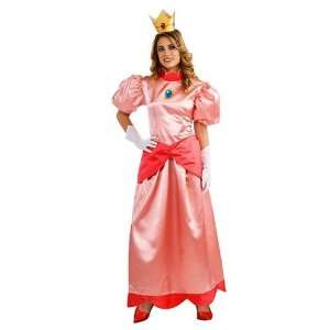Womens Deluxe Super Mario Princess Peach Costume Size Large Office