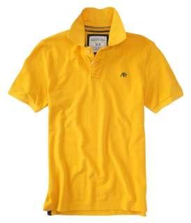 Aeropostale mens solid A87 uniform polo shirt