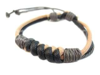 Stylish Multi Color Braided Hemp Surfer Tribal Bracelet   Select Style