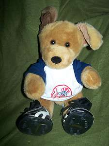 Build A Bear Yankees Puppy Dog Stuffed Plush 12