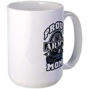 Large Mug Coffee Drink Cup Proud Army Mom Tank