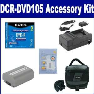 com Sony DCR DVD105 Camcorder Accessory Kit includes 3DMR30R1H Tape
