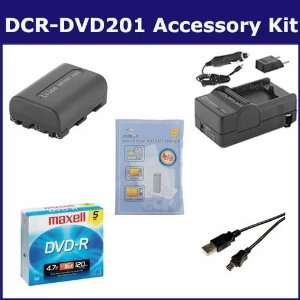 Sony DCR DVD201 Camcorder Accessory Kit includes 638002 Tape