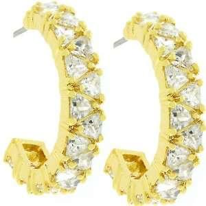 Trillion Cut Hoop Fashion Jewelry Earrings Jewelry