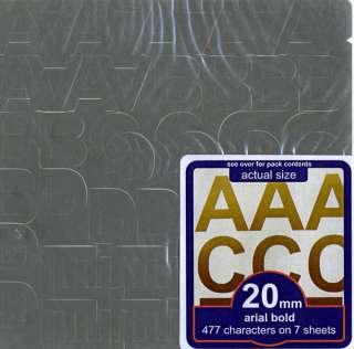 Letter & Number Vinyl Decal Sticker Set   *SILVER*