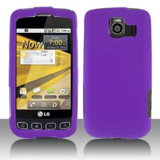 LG Optimus V   Cell Phone Faceplates Cover case Purple