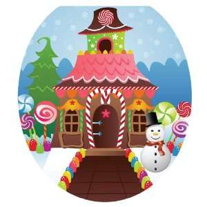 Toilet Tattoos TT X617 R Christmas Candy House Decorative Applique For