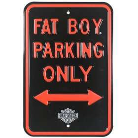 Harley Davidson® Fat Boy Parking Street Sign