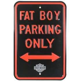 Harley Davidson® Fat Boy Parking Street Sign