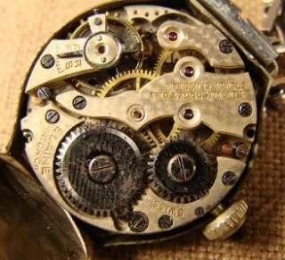 Vtg Art Deco Elaine Silvertone 15J Jewel Ladies Wrist Watch