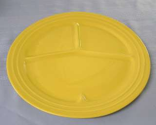 Antique California Pacific Pottery large yellow grill plate bbq dinner