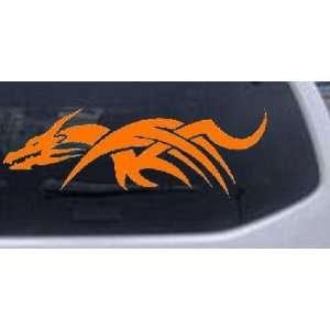 Tribal Dragon Car Window Wall Laptop Decal Sticker    Orange 52in X 18
