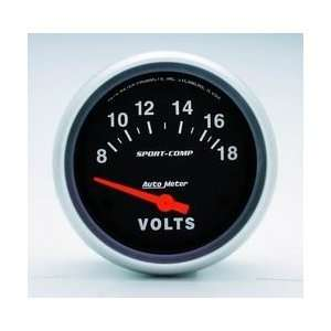 Auto Meter 3592 8 16 VOLTMETER GAUGE Automotive