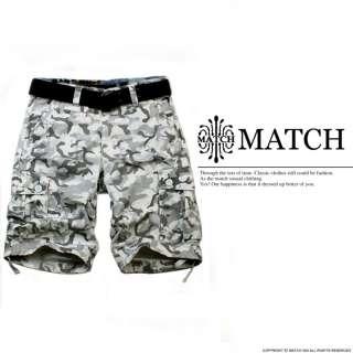 BNWT Match Mens Cargo Shorts Camo Size 30 36 Free S&H