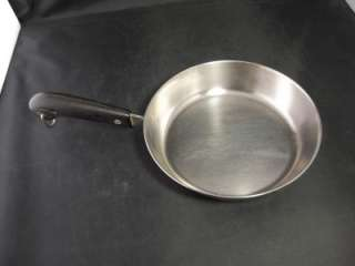 Revere Ware Stainless Steel Copper Clad Bottom Fry Pan Black Plastic