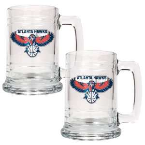Atlanta Hawks NBA 2pc 15oz Glass Tankard Set   Primary