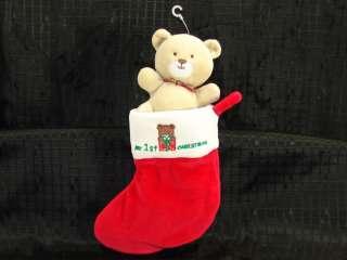 NEW Plush Baby Sprockets 1st Christmas Stocking Bear