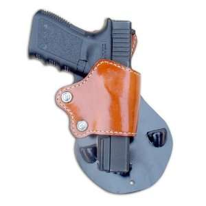 Yaqui Slide Paddle Holster Fits all Glocks Right Hand, Color Russet 1
