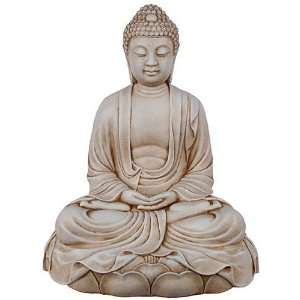 Buddha in Meditation on Lotus Sculpture