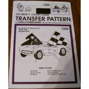 Hot Iron Transfer Pattern #1200 Covette Racing (For Punch