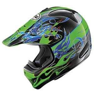 Arai VX Pro III Wing Flame Helmet   Medium/Green