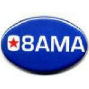 OBAMA 2008 1 3/4 X 2 3/4 oval buttonS PINS PINBACKS