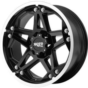 Moto Metal MO960 17x8 Black Wheel / Rim 8x180 with a 0mm Offset and a