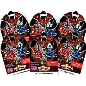 6 Packs   Power Rangers Samurai Mega Bloks Item #5714