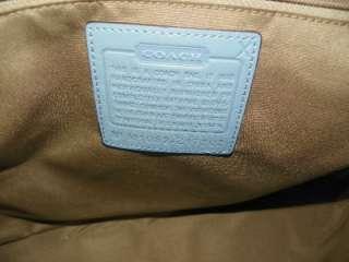 Coach SOHO Large Blue Leather Satchel Purse Z17202 NWT