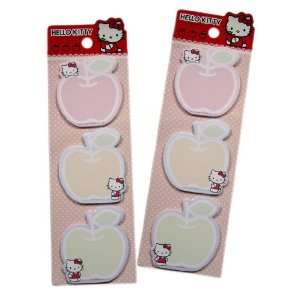 Memo Pad   Sanrio Hello Kitty Sticky Note Pads (2 Packs) Toys & Games