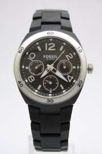 Berkley Black Multifunction Soft Touch Plastic Band Watch 35mm ES2519