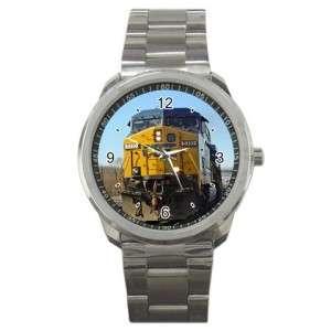 CSX Train 70 Diesel Engine Sports Metal Watch Rare