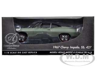 car of 1967 Chevrolet Impala SS 427 Green Chase Car die cast car by