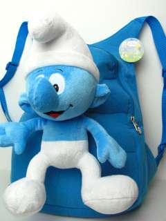 NEW Plush Smurf blue doll Backpack bag satchel