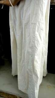 antique WOMENS DRESS COAT night robe LACE TRIM ★