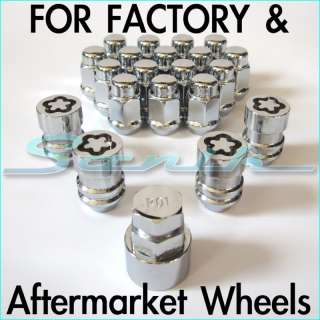 CHRYSLER DODGE JEEP Rim Wheel Locks Lug Nut Set 12x1.5